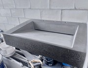Бетонный щелевой умывальник подвесной лофт из бетона под заказ изготовление Одесса